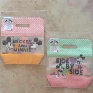 Mickey and Minnie Clear ZIP Bag with Handles